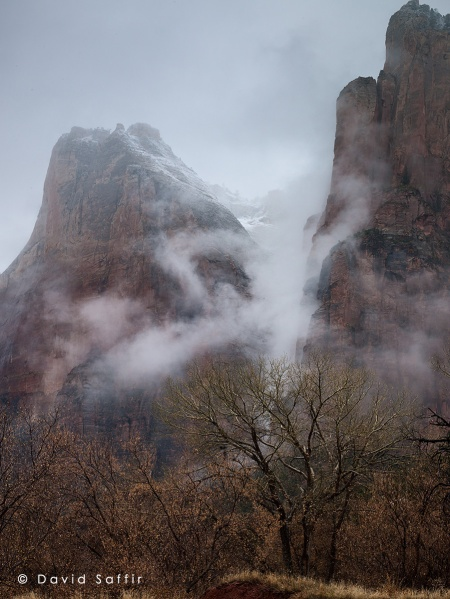 Zion, Fog Among the Patriarchs, Winter 2012