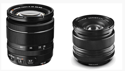 Two of the new Fuji lenses